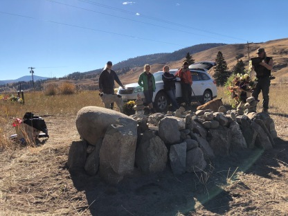 Day 4. Stone by stone, we built a cairn befitting a hippie environmentalist homesteader.