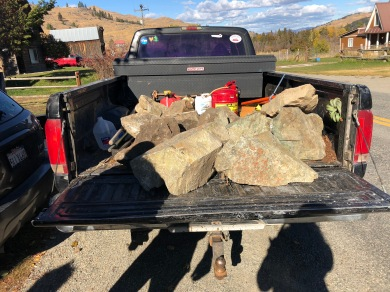 We carried the biggest rocks to the cemetary on Day 3