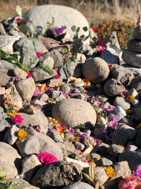 """The """"womb"""" stone sits in the center, surround by mom's most precious stones."""