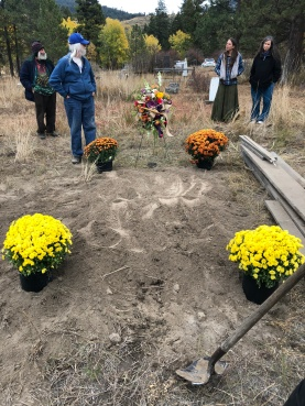 Mom's grave after the burial.